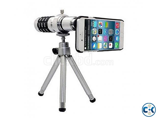 Universal 12X Zoom Telescope Mobile Phone Lens | ClickBD large image 1