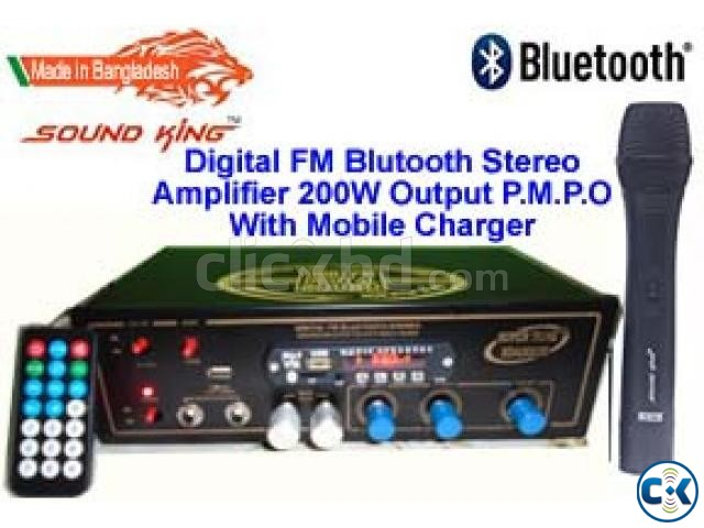 BLUETOOTH AMPLIFIER WITH MOB CHARGER | ClickBD large image 0