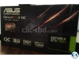 ASUS GTX 780ti DirectCUII OC 3GB FULLY BOXED