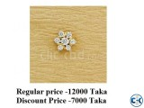 DIAMOND WITH GOLD NOSE PIN 60 OFF