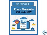 Low rate .com domain. only 299 tk .com domain for 1year