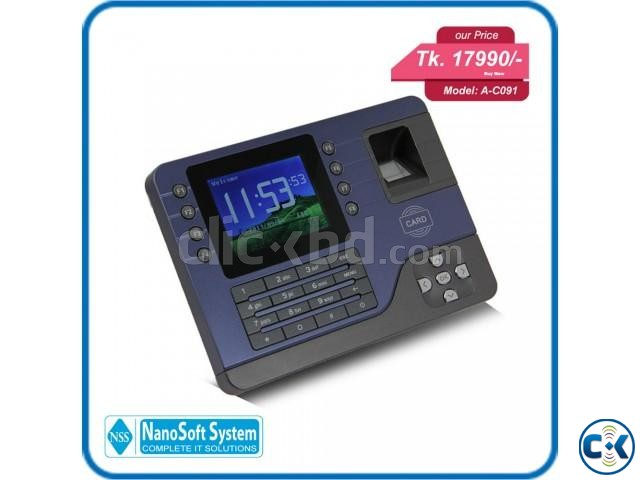 AC091 biometric fingerprint time attendance device | ClickBD large image 2