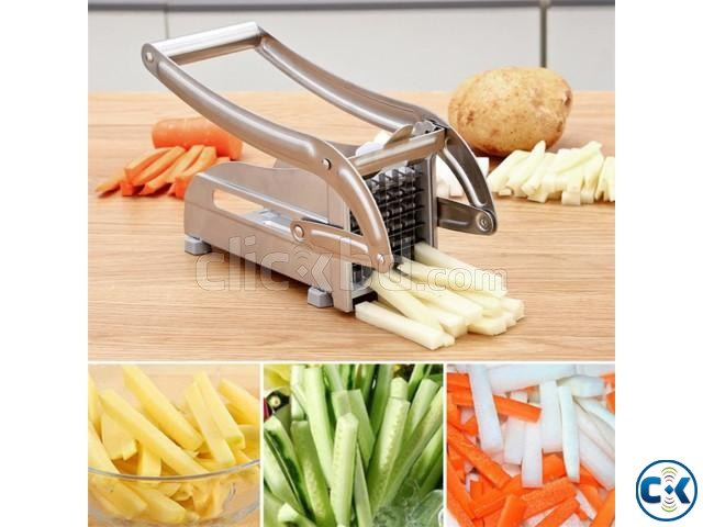 Stainless Steel Potato Slicer French Fry Cutter | ClickBD large image 0