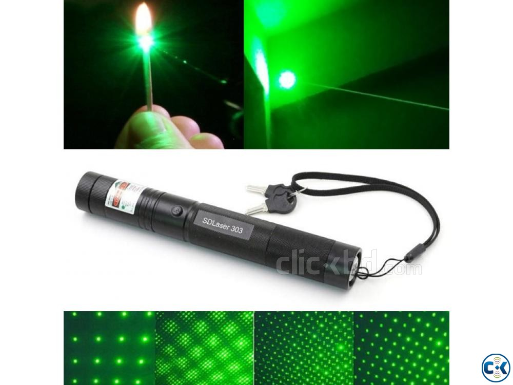 Rechargeable Green Laser Pointer Burning Laser Pointer | ClickBD large image 0