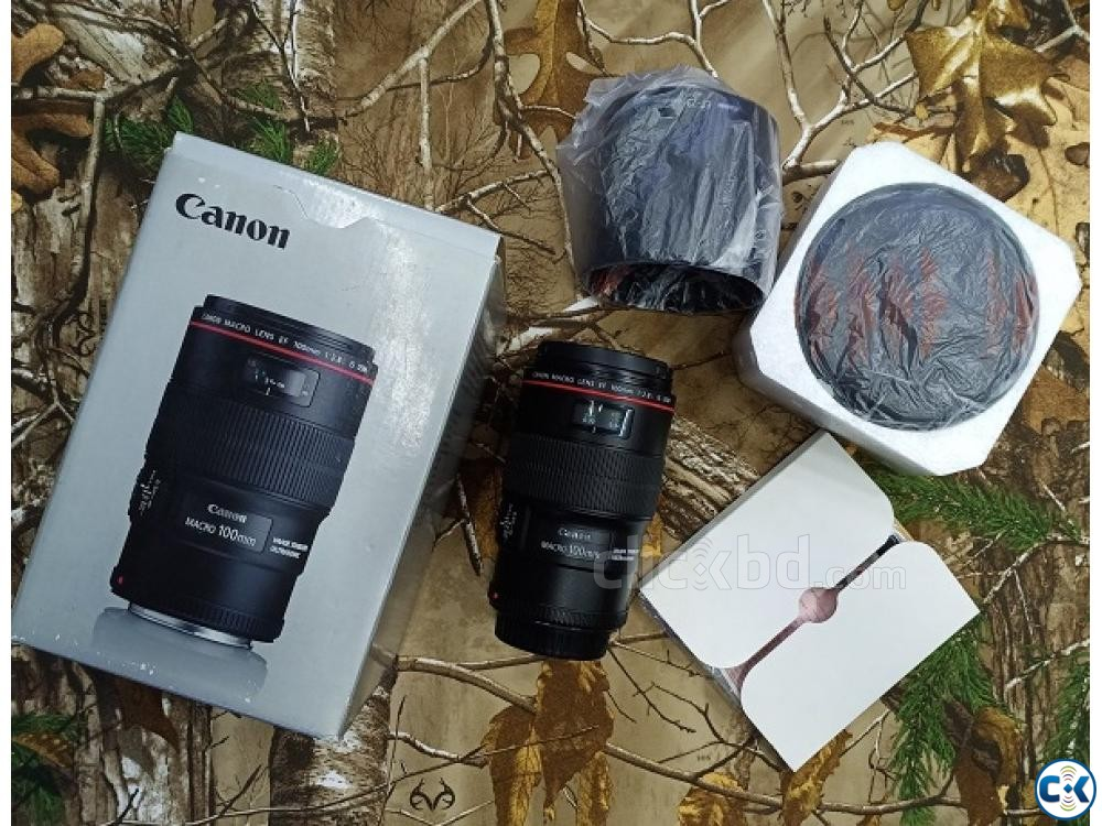 Canon EF 100mm f 2.8L Macro IS USM Professional Prime Lens | ClickBD large image 2