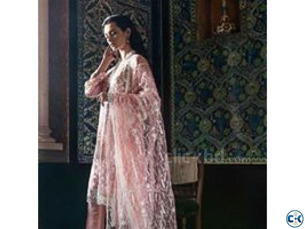 Sobia Nazir Embroidered Organza Unstitched 4 Piece Suit | ClickBD large image 0