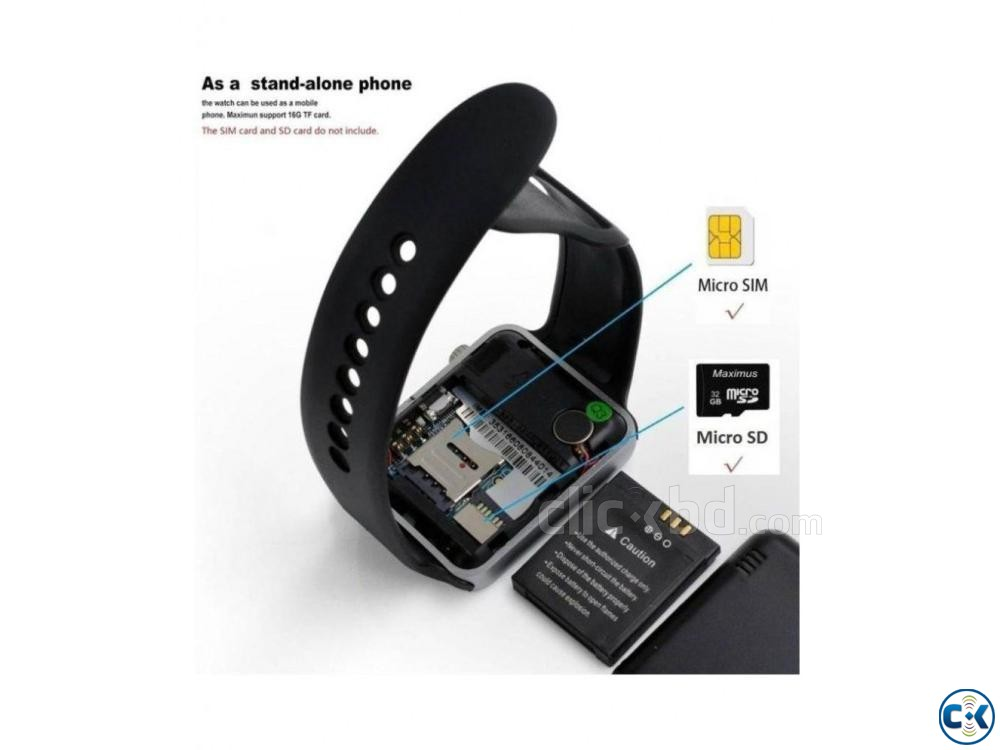 A-1 Smart Watch as i-watch SIM-call SMS facebook Chrome A | ClickBD large image 1