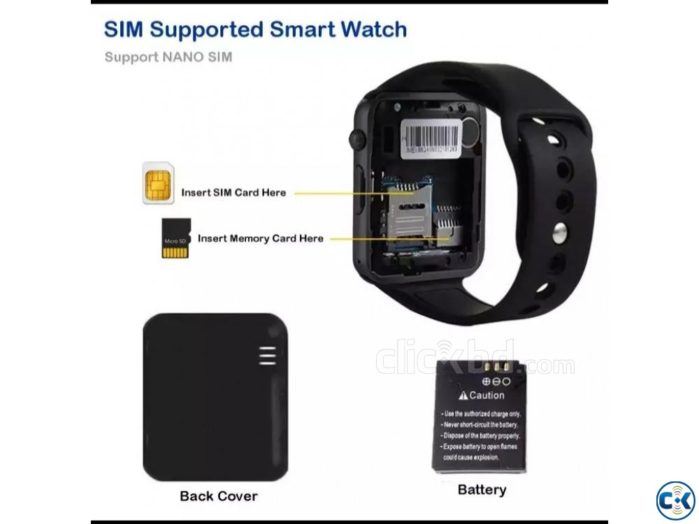 SIM Support Bluetooth Smart Watch Free Delivery New  | ClickBD large image 2