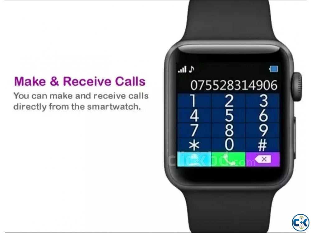 SIM Support Bluetooth Smart Watch Free Delivery New  | ClickBD large image 3