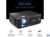 Everycom X20 Mini Projector TV Projector HD 3D LED Projector