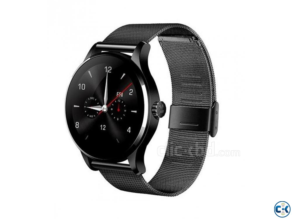 K88 Smartwatch Water-Proof Metal Body Call SMS Reminder | ClickBD large image 0
