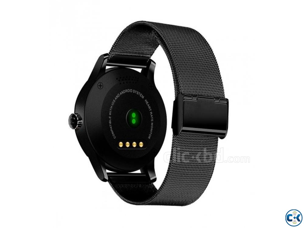 K88 Smartwatch Water-Proof Metal Body Call SMS Reminder | ClickBD large image 1