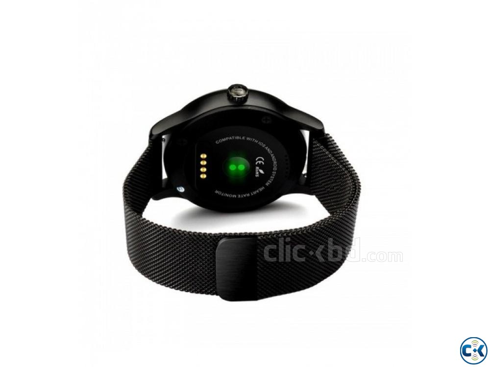 K88 Smartwatch Water-Proof Metal Body Call SMS Reminder | ClickBD large image 2