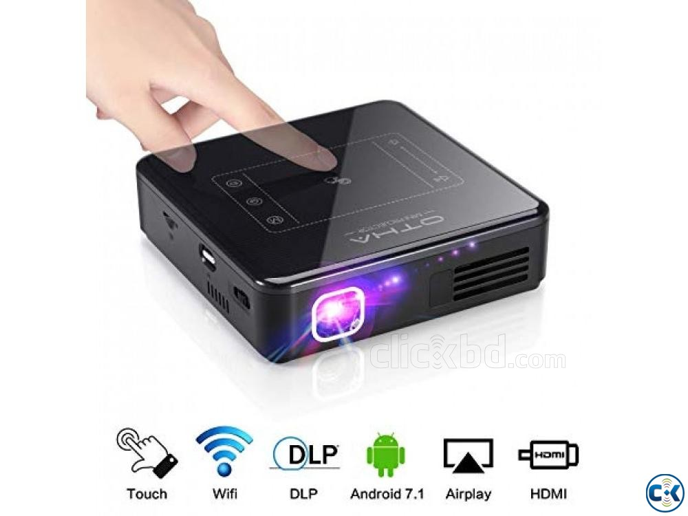 Mini Pocket Projector D13 4K PRICE IN BD | ClickBD large image 1