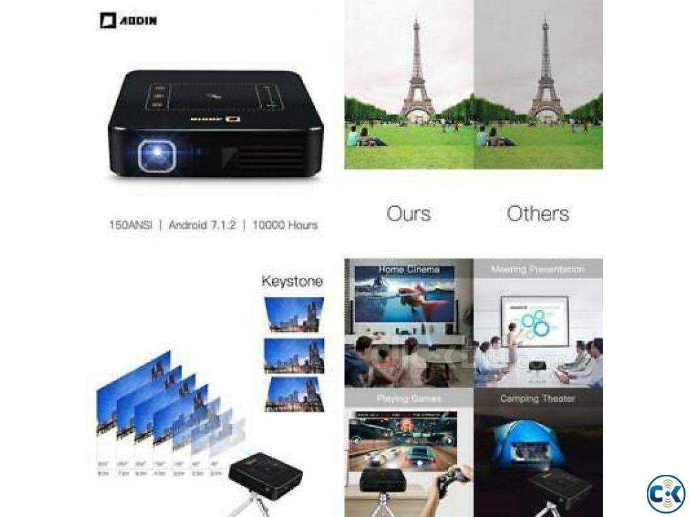 Mini Pocket Projector D13 4K PRICE IN BD | ClickBD large image 2