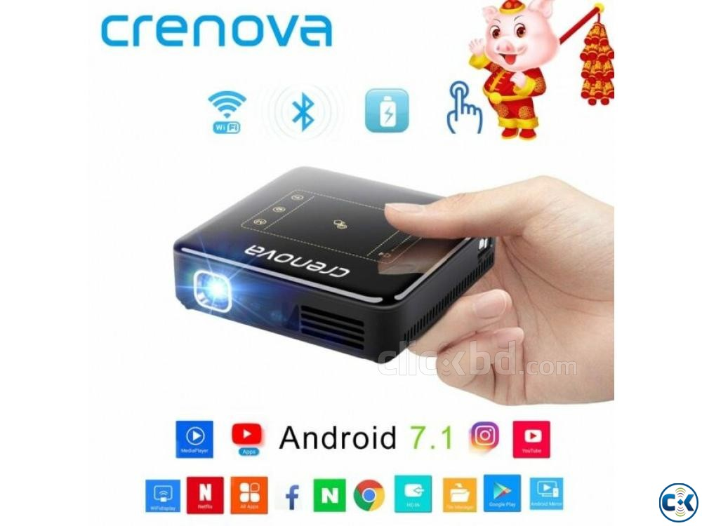 Mini Pocket Projector D13 4K PRICE IN BD | ClickBD large image 3
