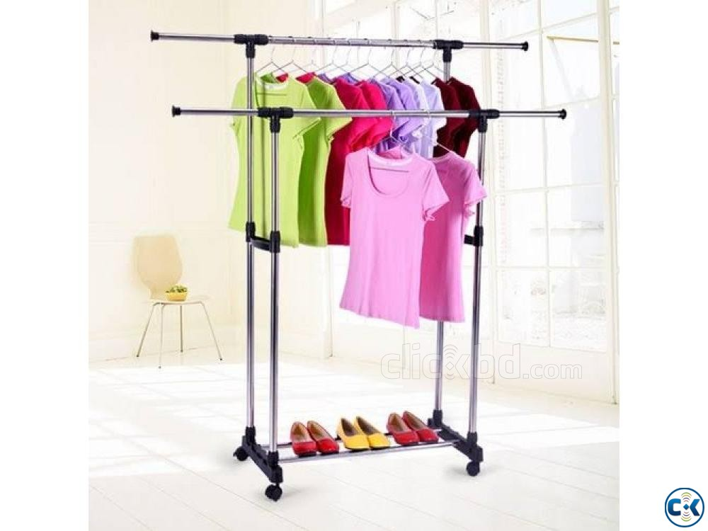 Stainless Steel Clothes Rack Portable Clothes Rack  | ClickBD large image 0
