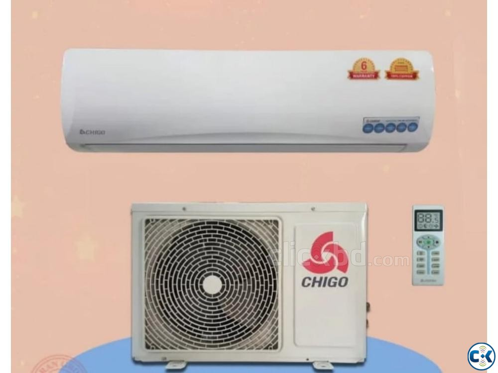 Chigo 1.0 ton split air conditioner ac has 12000 BTU | ClickBD large image 0