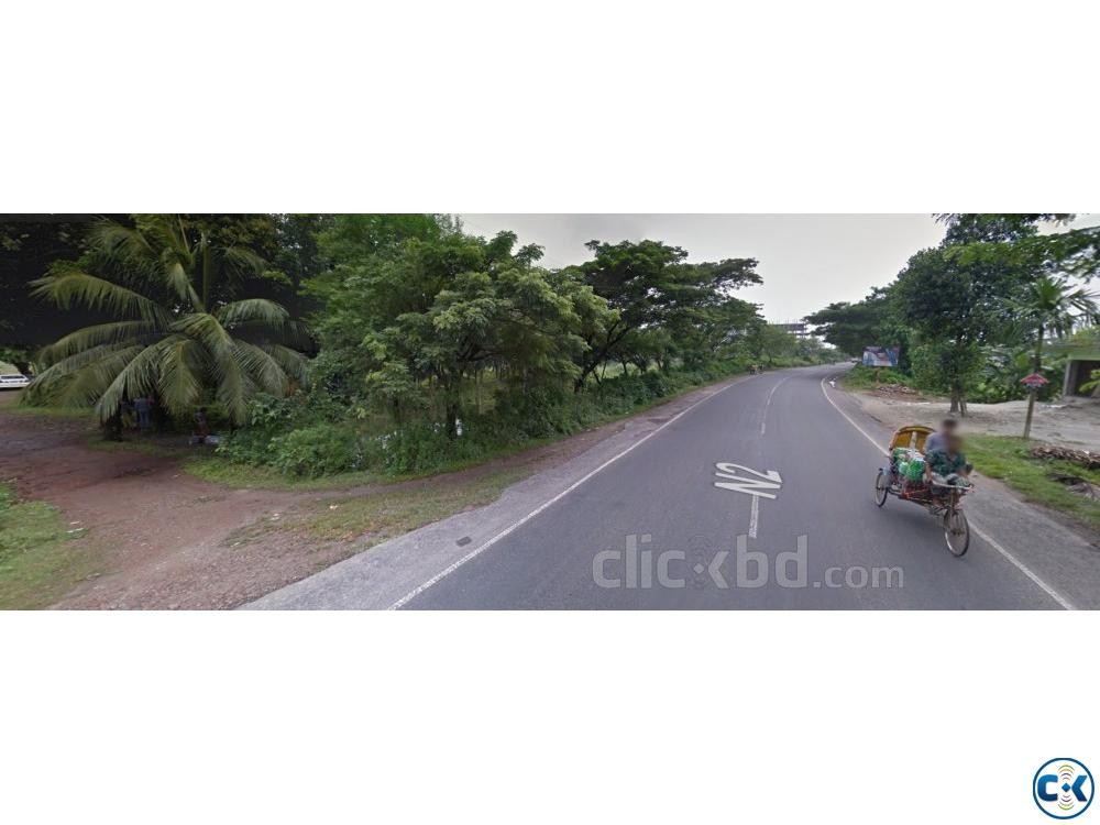 Land for rent in Purbachol Gawsia beside Dhaka Sylhet road | ClickBD large image 0