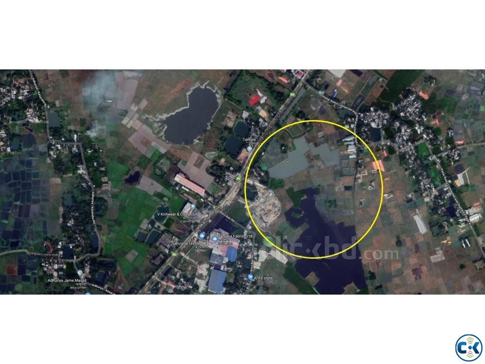 Land for rent in Purbachol Gawsia beside Dhaka Sylhet road | ClickBD large image 1