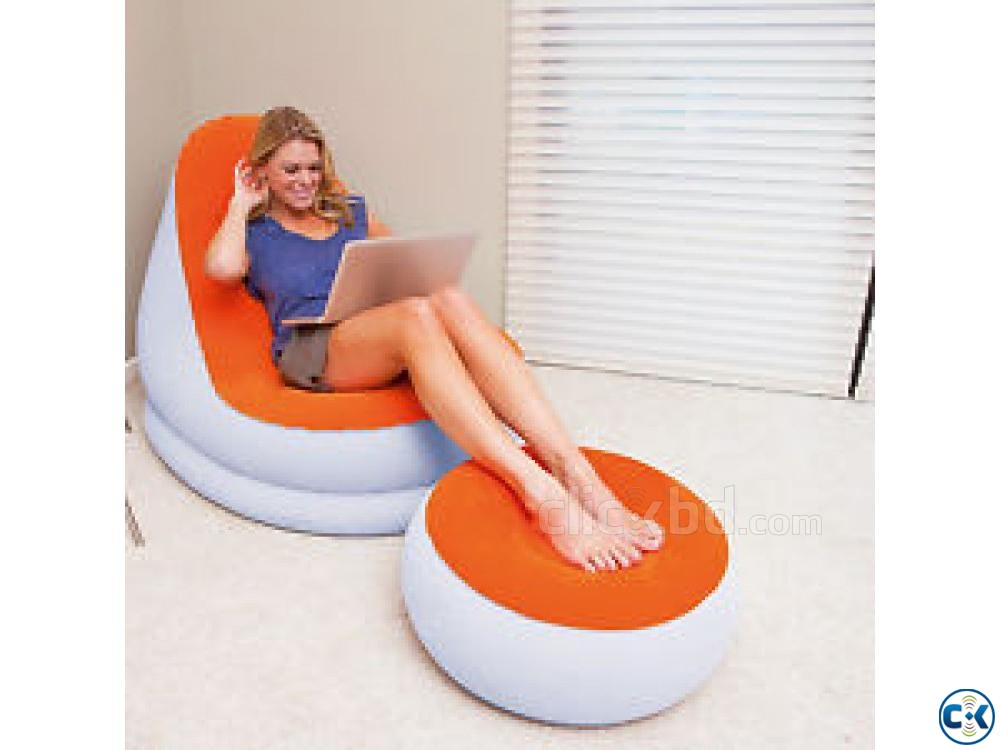 2 in 1 Air Chair And Footrest Free Pumper | ClickBD large image 1