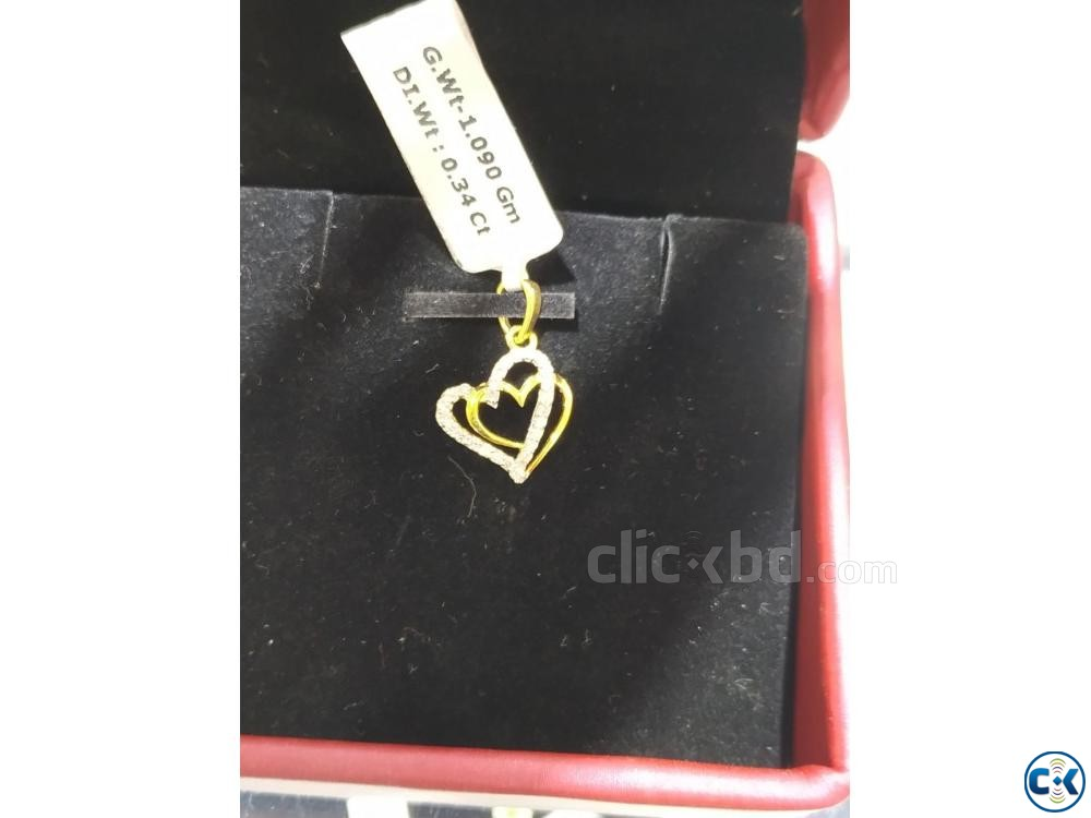 Diamond with Gold pendant 40 OFF | ClickBD large image 0