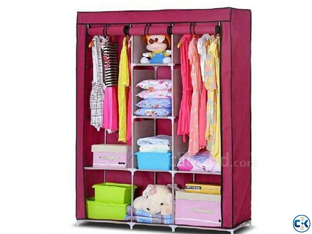 Royaldeals HCX-88130 Cotton Collapsible Wardrobe | ClickBD large image 0