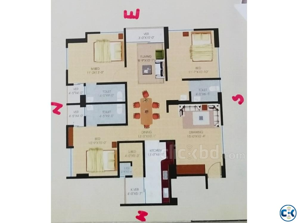 Flat For Sell at Mymensingh Sadar Mymensingh | ClickBD large image 1