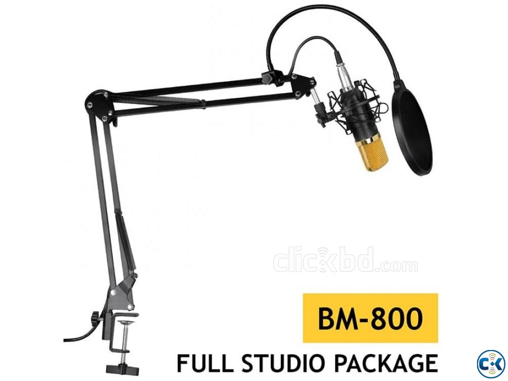 Condenser Microphone Full Studio Package BM800 Microphone | ClickBD large image 0