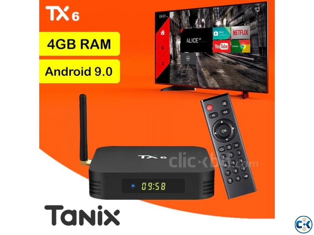 Latest 4GB RAM Android TV Box Tanix TX6 Android Smart TV Box | ClickBD large image 0
