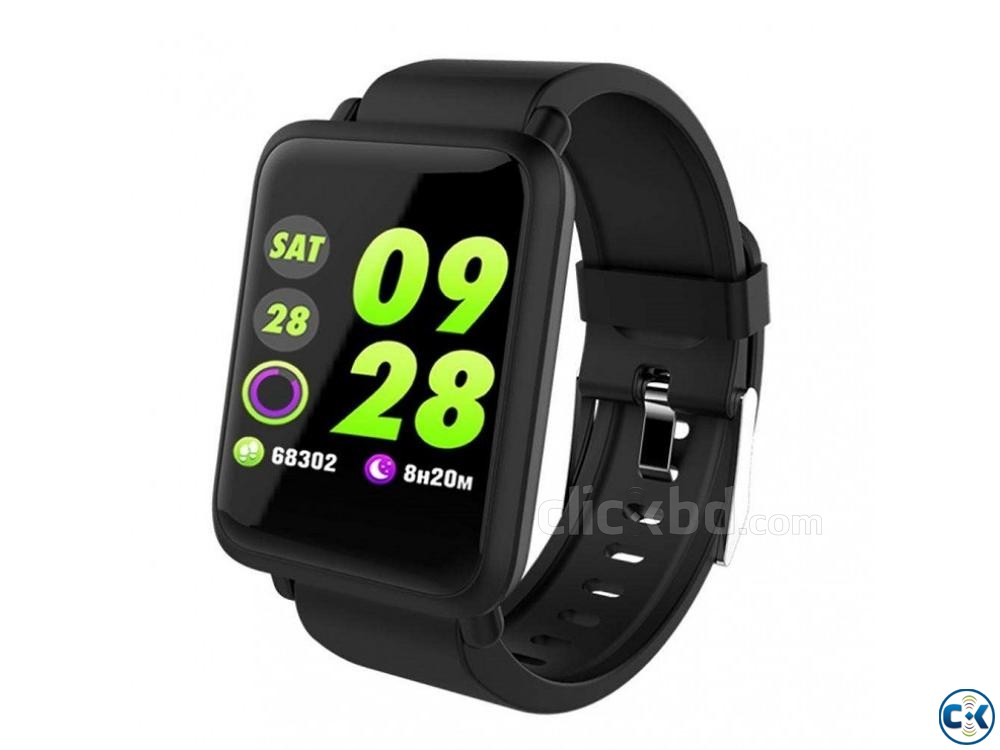 M28 Smart Watch Bluetooth Waterproof BP Heart Rate | ClickBD large image 0