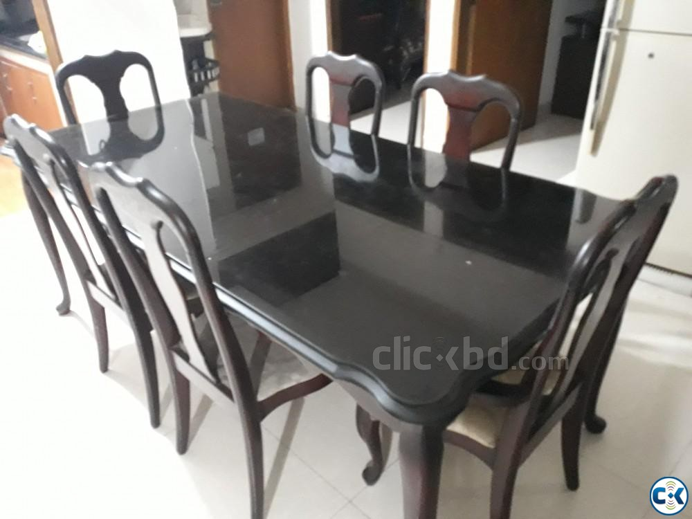 Used Dinning Table includes 8 Chairs | ClickBD large image 0