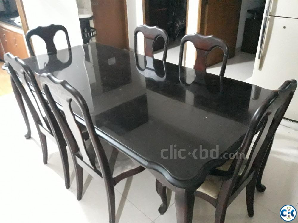 Used Dinning Table includes 8 Chairs | ClickBD large image 1