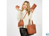 Women s Leather Bag Set 4 Bags Included