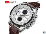 Quartz Men Watches Fashion Genuine Leather Waterproof