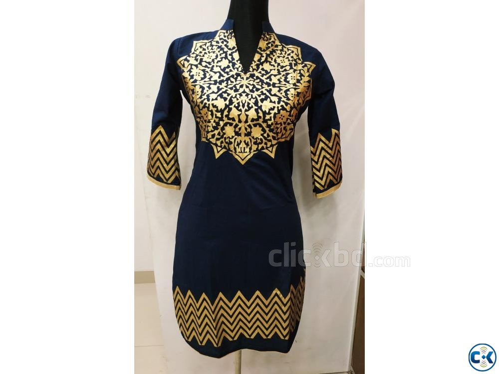 1 piece cotton kurti | ClickBD large image 0