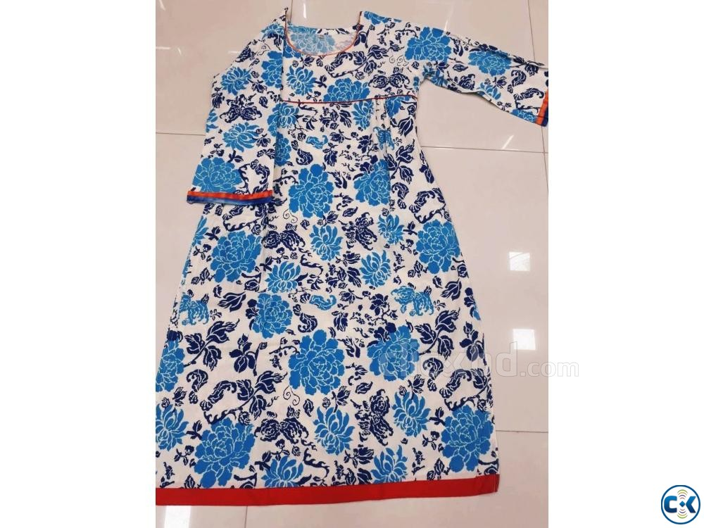 1 piece cotton kurti | ClickBD large image 1