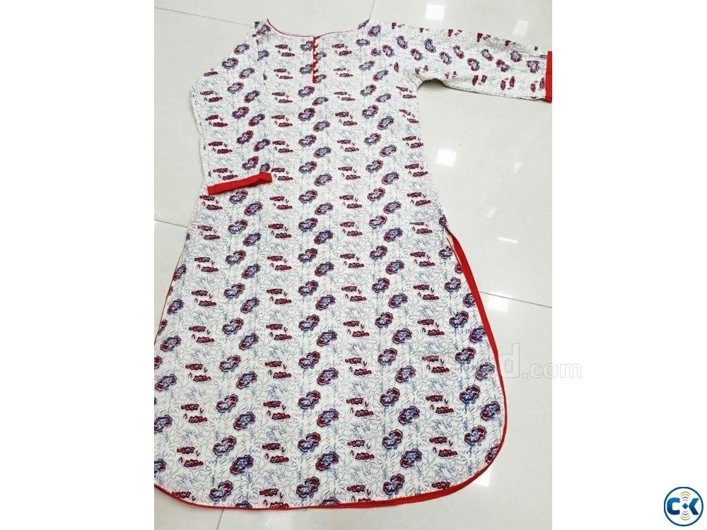 1 piece cotton kurti | ClickBD large image 2