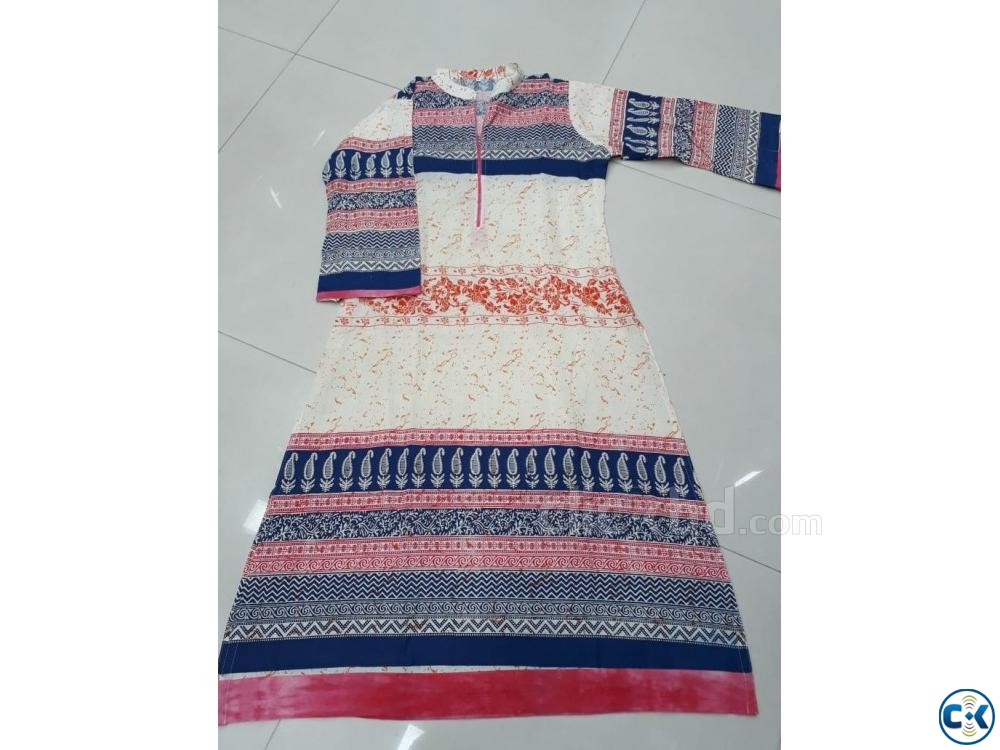1 piece cotton kurti | ClickBD large image 3