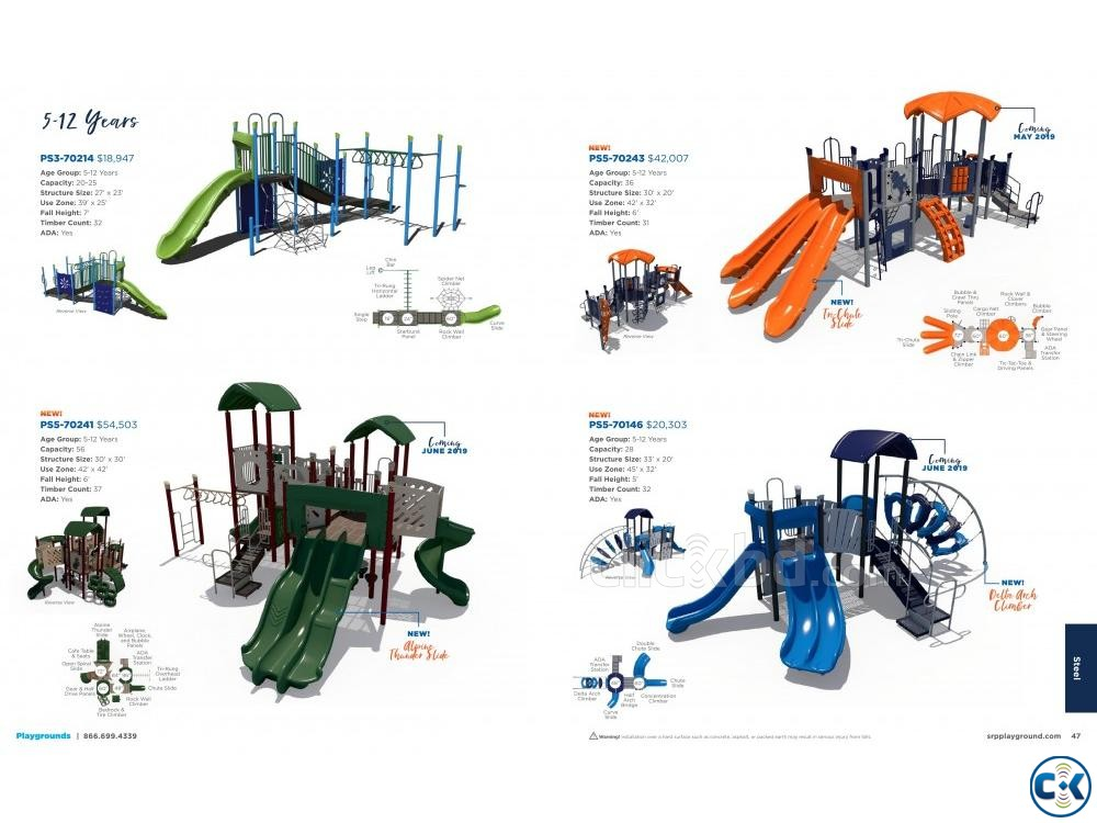 CHILDREN INDOOR OUTDOOR PLAYGROUND EQUIPMENTS | ClickBD large image 2