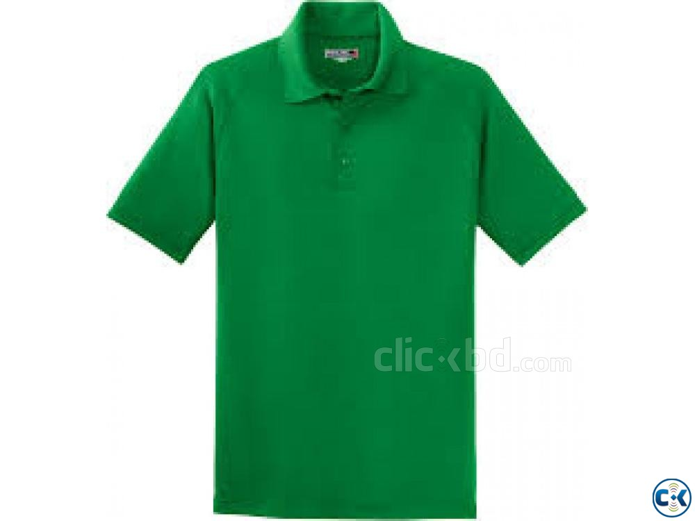 Green polo t shirt | ClickBD large image 0