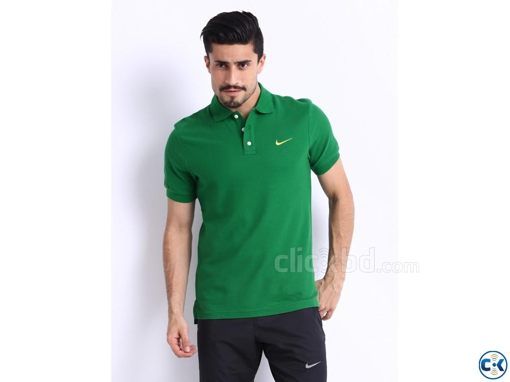 Green polo t shirt | ClickBD large image 1