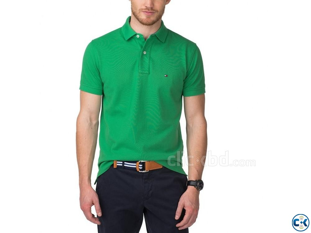 Green polo t shirt | ClickBD large image 2