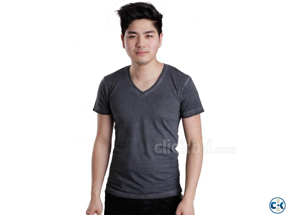 GREY COLOR T SHIRT | ClickBD large image 0