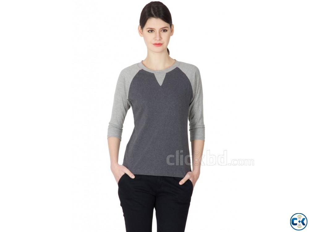 GREY COLOR T SHIRT | ClickBD large image 3