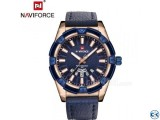 NAVIFORCE Men s Watch-Navy Blue with Gold