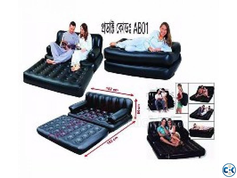 5 in 1 Air Bed Sofa Cum Bed New Version | ClickBD large image 1