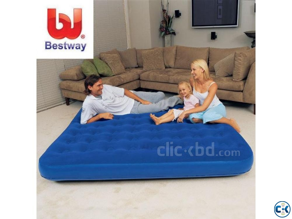Bestway Double Air Bed Free Pumper | ClickBD large image 1