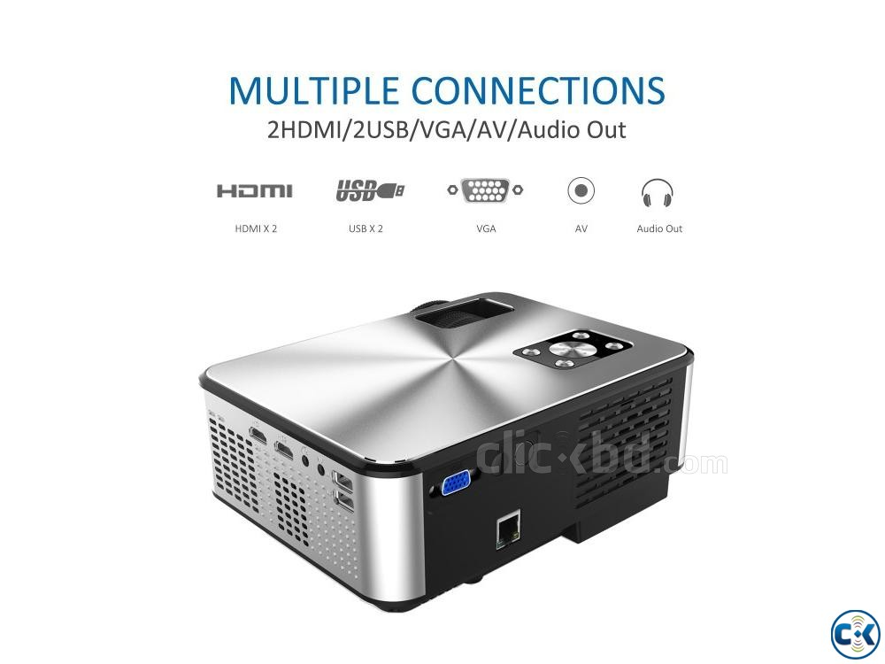 Cheerlux C9 Mini 2800 Lumen HD TV Projector | ClickBD large image 1