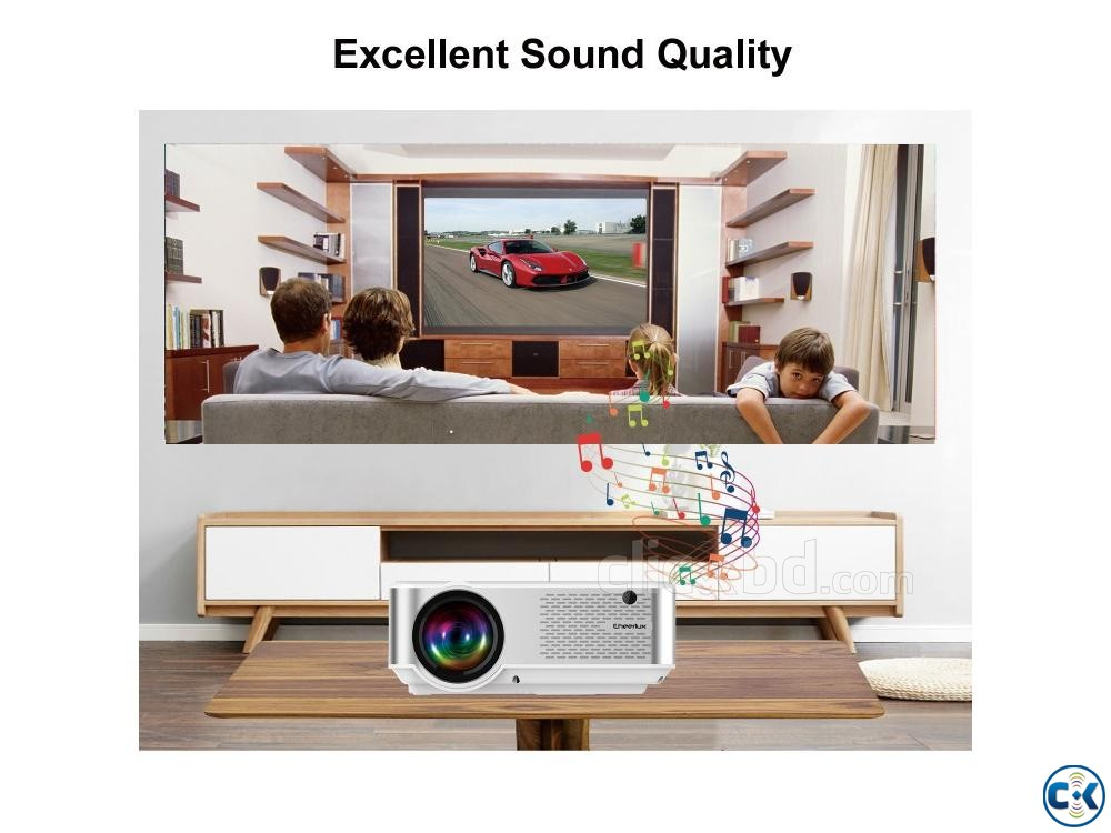 Cheerlux C9 Mini 2800 Lumen HD TV Projector | ClickBD large image 3